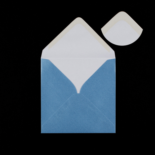 Pearlescent Ice Blue 130mm Square Envelopes