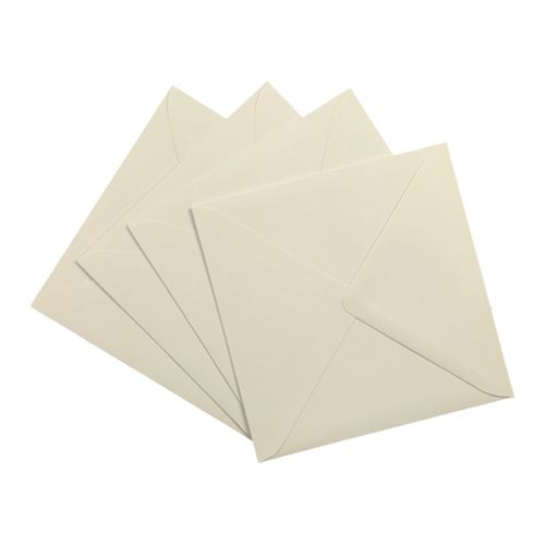 IVORY 130mm SQUARE ENVELOPES 130GSM