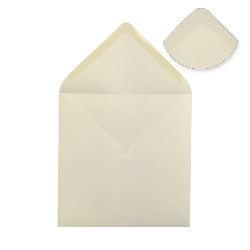 IVORY 100mm SQUARE ENVELOPES