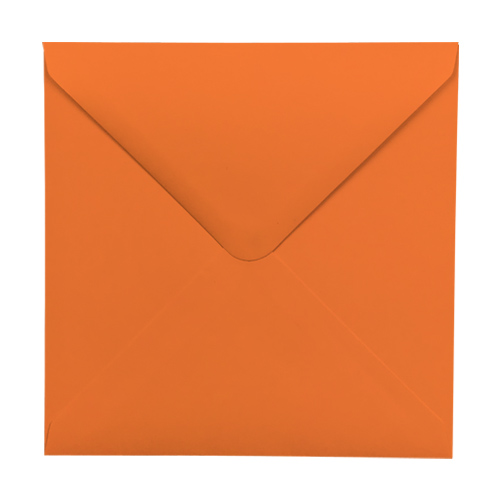 ORANGE 130mm SQUARE ENVELOPES