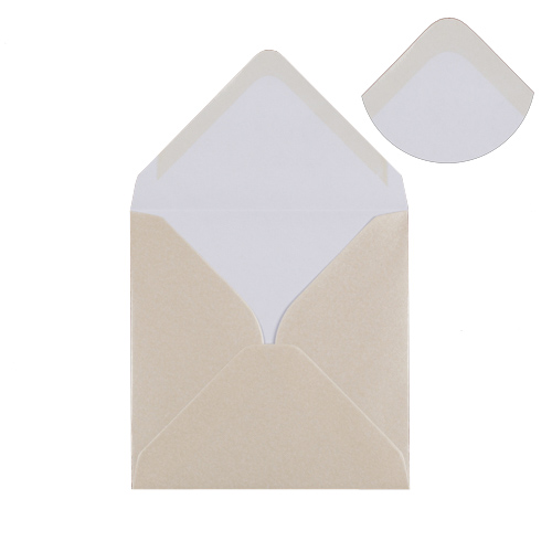 Fresh White 130mm Square Envelopes
