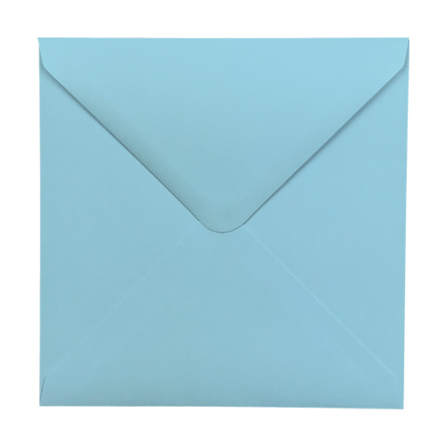 PASTEL BLUE 130mm SQUARE ENVELOPES