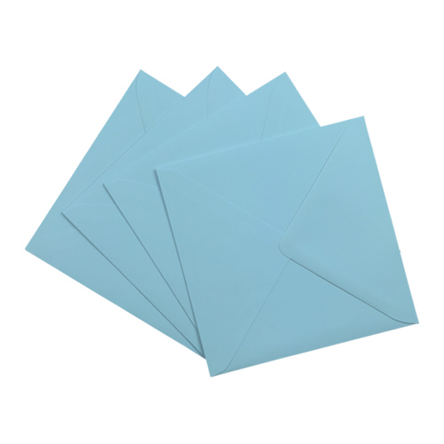 PASTEL BLUE 155mm SQUARE ENVELOPES