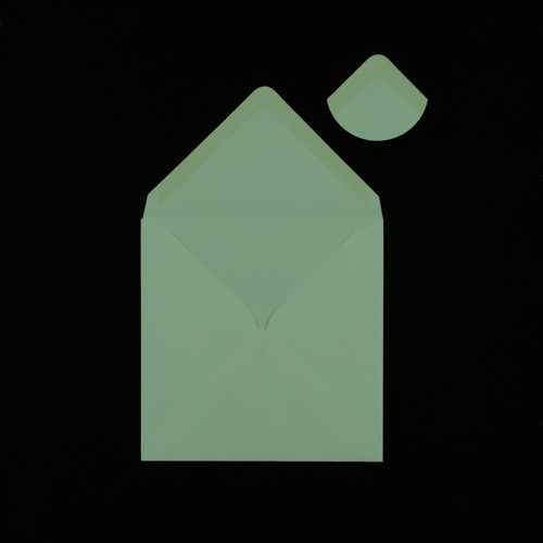 Pastel Green 155mm Square Envelopes