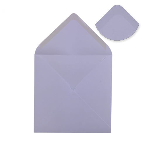 PASTEL LILAC 155mm SQUARE ENVELOPES