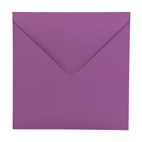 PURPLE 130mm SQUARE ENVELOPES