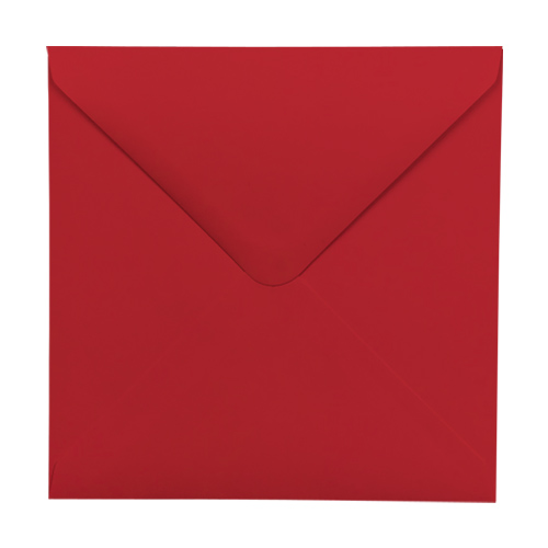 SCARLET RED 100mm SQUARE ENVELOPES