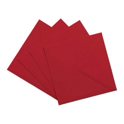 SCARLET RED 130mm SQUARE ENVELOPES