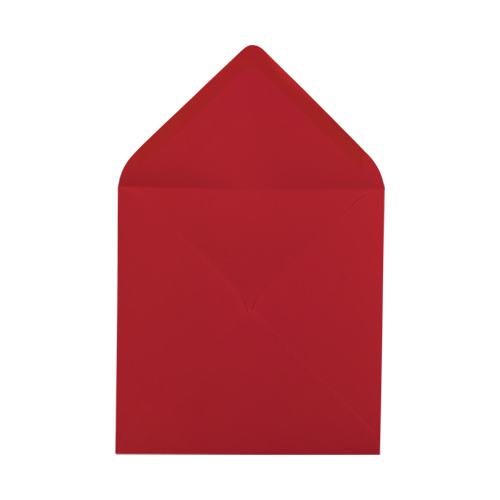 SCARLET RED 155mm SQUARE ENVELOPES