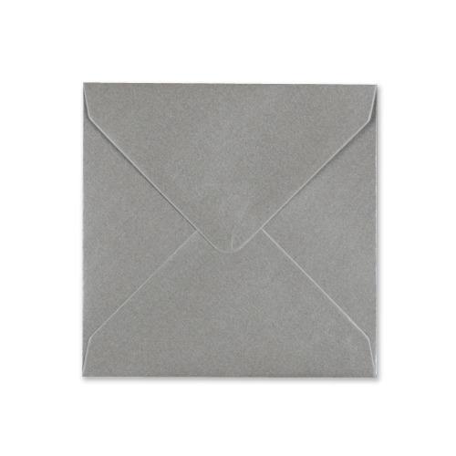 METALLIC SILVER 130mm SQUARE ENVELOPE