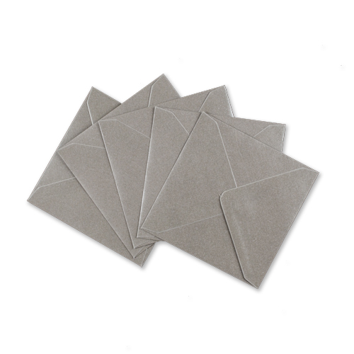 METALLIC SILVER 155mm SQUARE ENVELOPES