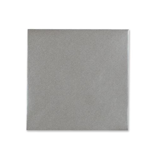 METALLIC SILVER 100mm SQUARE ENVELOPES