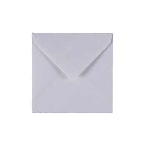 PEARLESCENT SNOW WHITE 155mm SQUARE ENVELOPES