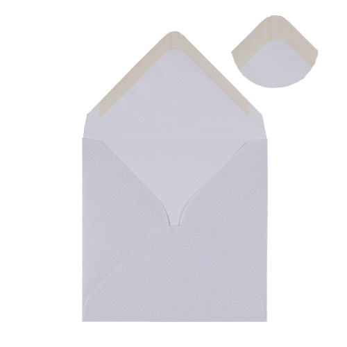 PEARLESCENT SNOW WHITE 100mm SQUARE ENVELOPES