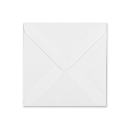 WHITE 140mm SQUARE ENVELOPE