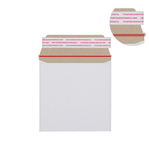 340mm SQUARE WHITE ALL-BOARD ENVELOPES 350GSM