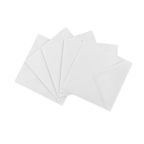 RECYCLED WHITE 155mm SQUARE ENVELOPE