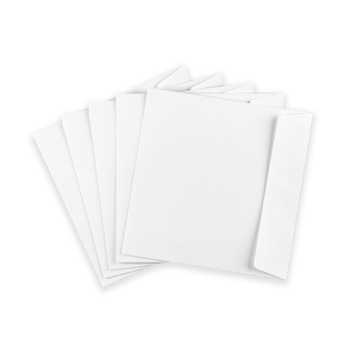 190MM SQUARE WHITE ENVELOPES (STRAIGHT FLAP)