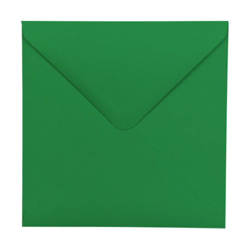 XMAS GREEN 100mm SQUARE ENVELOPES