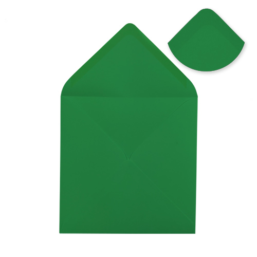 155mm Square Xmas Green Envelopes