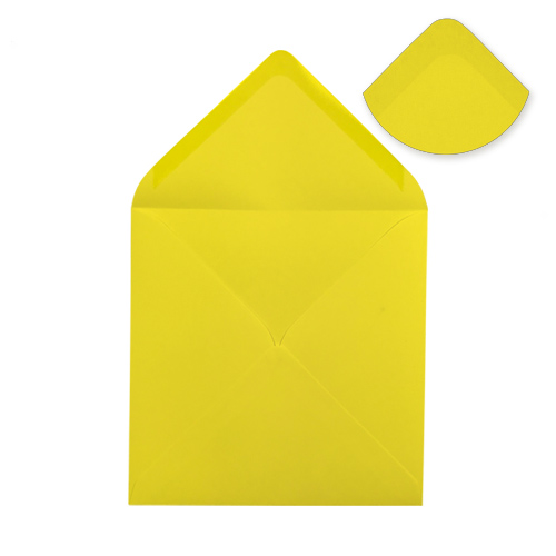 DAFFODIL YELLOW 130mm SQUARE ENVELOPES