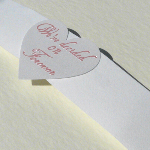 We've Decided on Forever Embossed Seals (Pack of 20)