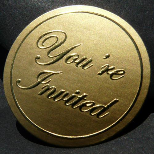 You're Invited Embossed Seals (Pack of 20)