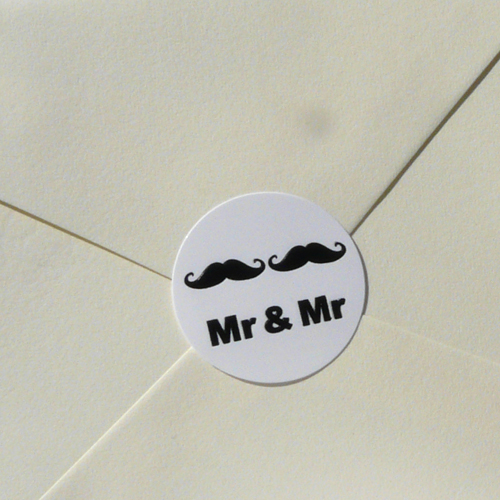 Mr & Mr Embossed Seals (Pack of 20)
