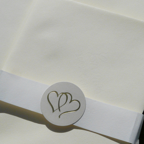 Twin Hearts Embossed Seals (Pack of 20)
