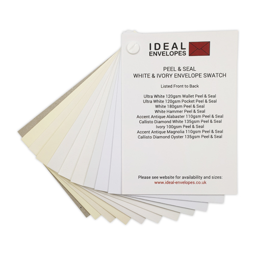 WHITE & IVORY PEEL & SEAL ENVELOPES SWATCH
