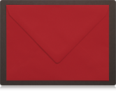 125 x 175mm Scarlet Red Envelopes