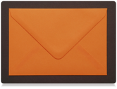 125 x 75mm Orange Envelopes