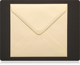 130mm Square Cream Envelopes