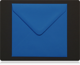 155mm Square Kingfisher Blue Envelopes