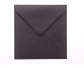 130mm Square Black Envelopes