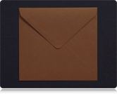 155mm Square Chocolate Brown Envelopes