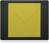 155mm Square Daffodil Yellow Envelopes