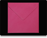 155mm Square Fuchsia Pink Envelopes