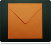 130mm Square Orange Envelopes