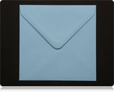 155mm Square Pastel Blue Envelopes
