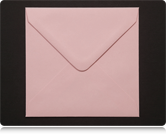 130mm Square Pastel Pink Envelopes