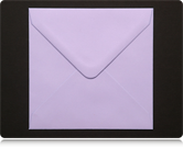 130mm Square Pastel Lilac Envelopes