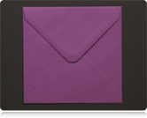 130mm Square Purple Envelopes
