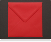 100mm Square Scarlet Red Envelopes