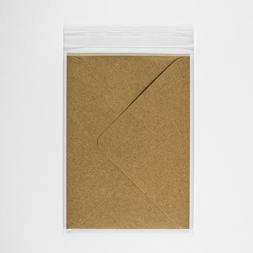 POLY SLEEVE BAGS to fit: C7 83 x 112 mm Envelope (SELF ADHESIVE)