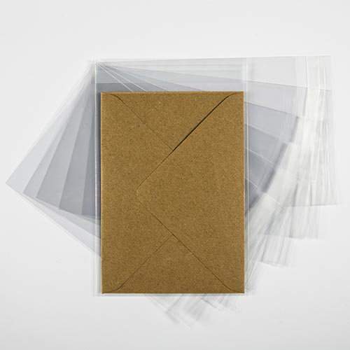 POLY SLEEVE BAGS to fit:  C6 114 x 162 mm Envelope (SELF ADHESIVE)