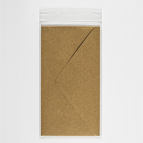 POLY SLEEVE BAGS to fit: 89 x 183 mm Envelope (SELF ADHESIVE)