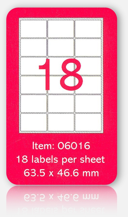 100 A4 SHEETS OF (63 x 46mm) SELF ADHESIVE LABELS