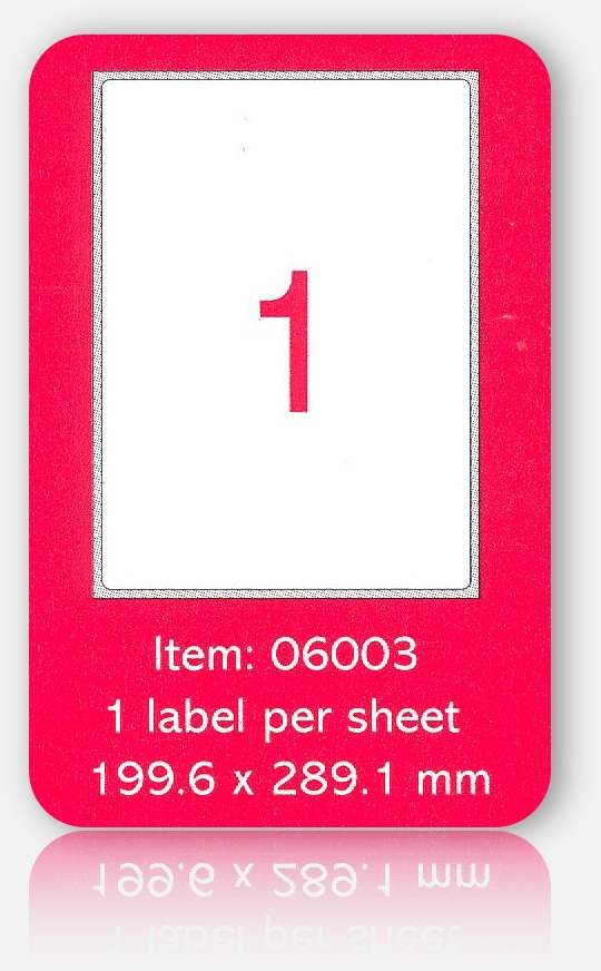 100 A4 SHEETS OF (199 x 289mm) SELF ADHESIVE LABELS