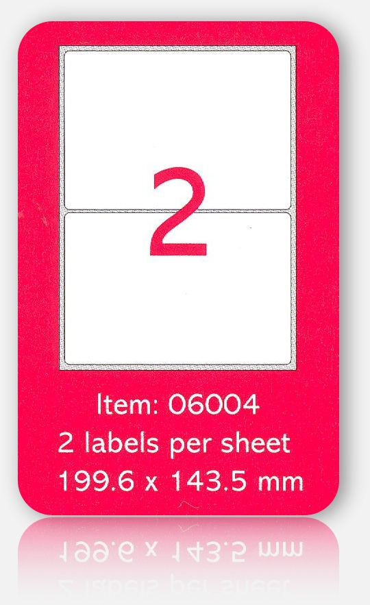 100 A4 SHEETS OF (199 x 143mm) SELF ADHESIVE LABELS
